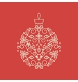 Christmas Bauble Card vector image vector image