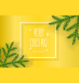 christmas composition on yellow background with vector image vector image