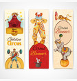Circus vintage banners set vector image