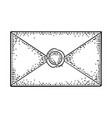 close kraft paper envelope with sealing wax vector image