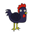 comic cartoon chicken vector image