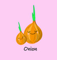 cute cartoon vegetables with smiles on faces and vector image vector image
