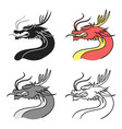 dragon icon in cartoon style isolated on white vector image