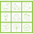 Eco friendly icons vector image vector image