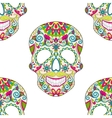 entangle stylized color skull for halloween vector image