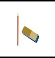 Eraser and pencil vector image vector image