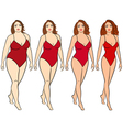 Female on the way to lose weight vector image