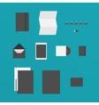 Flat Design of office Stuff vector image vector image