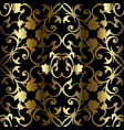 gold 3d baroque seamless pattern vintage vector image vector image