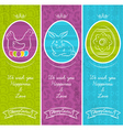 Greetings web banner for Easter Day vector image vector image