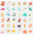 grille icons set cartoon style vector image vector image