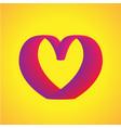 heart curve modern gradient shape template vector image vector image