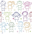 holidays pattern children vector image vector image