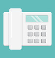 home phone flat icon household and appliance vector image vector image