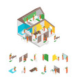 home repair and element concept 3d isometric view vector image vector image