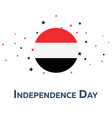 independence day of yemen patriotic banner vector image vector image