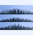 isolated silhouette of big city town vector image