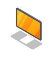 lcd monitor isometric 3d icon vector image
