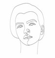 line drawing abstract face one drawing vector image