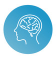 line icon- brain vector image