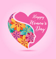 march 8 women day design element vector image vector image