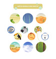 match animals and habitat vector image