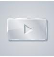 modern glass play icon Eps 10 vector image vector image