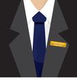 Name Badge On Shirt vector image vector image