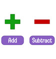 opposite words with add and subtract vector image vector image