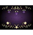 Pattern yellow flowers on a purple base EPS10 vector image vector image
