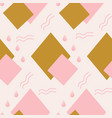 pink and gold geometric elements in a cute vector image vector image