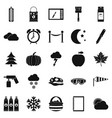 portrayal icons set simple style vector image