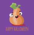 pumpkin halloween flat design cartoon vector image vector image
