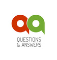 QA concept logo template Letters Q and A symbol vector image vector image