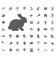 rabbit icon spring icon set vector image
