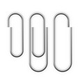 realistic paper clip attachment with shadow vector image vector image