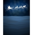 reindeer and Santa Claus on moon background vector image vector image