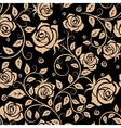 Retro roses floral seamless pattern vector image vector image