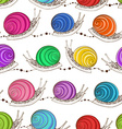 seamless pattern snails vector image vector image