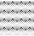 seamless retro black and white circle pattern vector image vector image