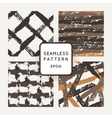 Set of seamless pattern of strokes routed vector image vector image