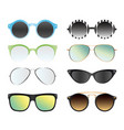 set of sunglasses isolated on vector image vector image