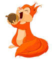 Squirrel Eats Nut vector image vector image