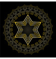 star of david on black background isolated jewish vector image