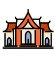 temple linecolor vector image vector image