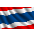 Thailand flag background vector image vector image