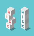 two risks stacks management vector image vector image