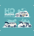 washing car station wash interior and engine vector image