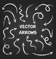 white grunge hand drawn arrows set on gray vector image vector image