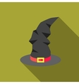 Witch hat icon flat style vector image vector image